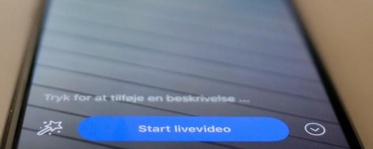 Billede af iphone, der er klar til livestreaming